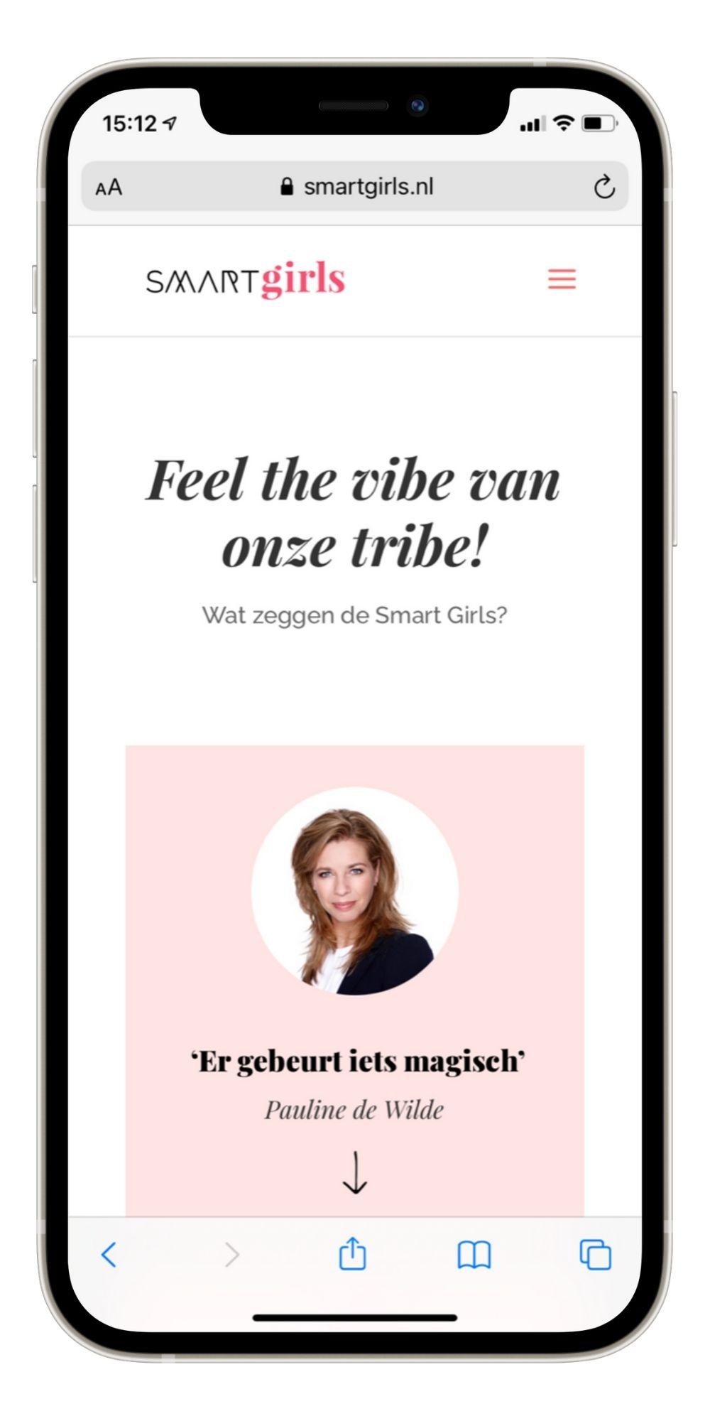 Paula Terpstra Websitecoaching Smart Girls Testimonial Mobile 3