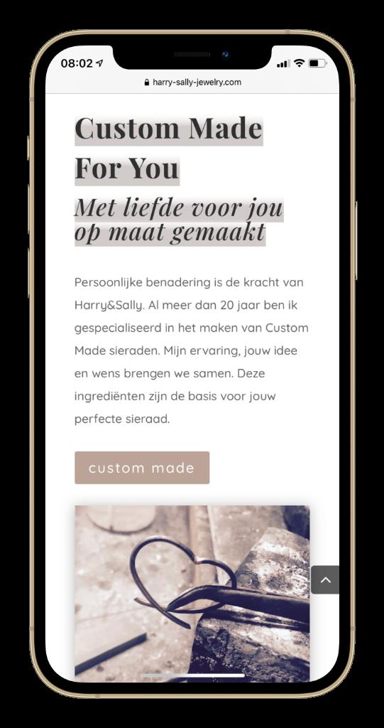 Paula Terpstra Webdesign Testimonial Harry Sally Jewelry Mobile 1