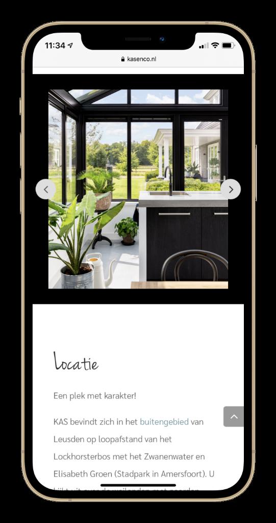 Paula Terpstra Webdesign Testimonial KAS Vergaderlocatie Leusden Mobile 2