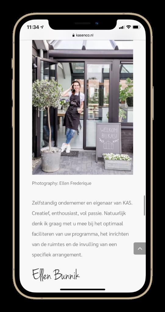 Paula Terpstra Webdesign Testimonial KAS Vergaderlocatie Leusden Mobile 3
