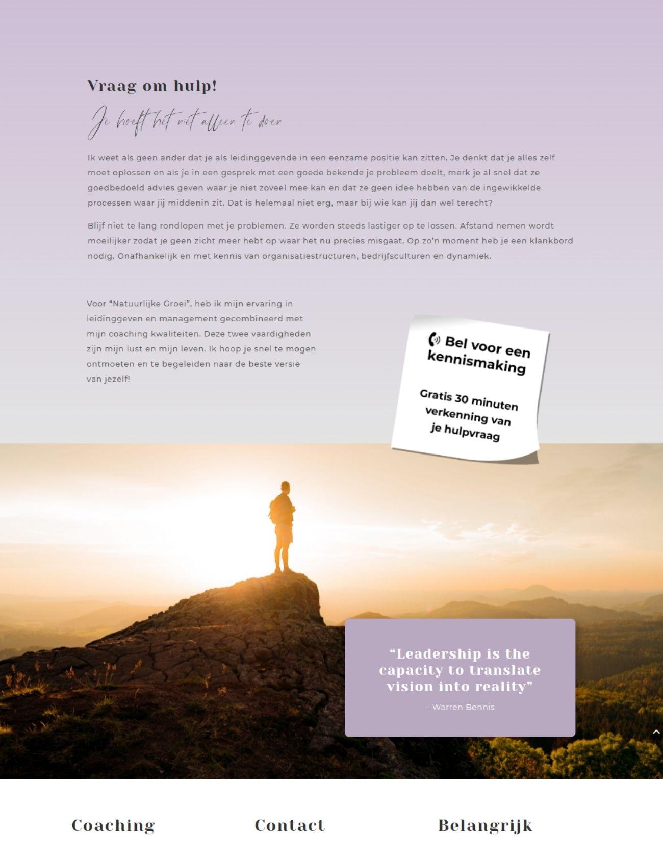 Impressie Anneke Oliehoek Paula Terpstra Webdesign Natuurlijk Leiderschap (1)