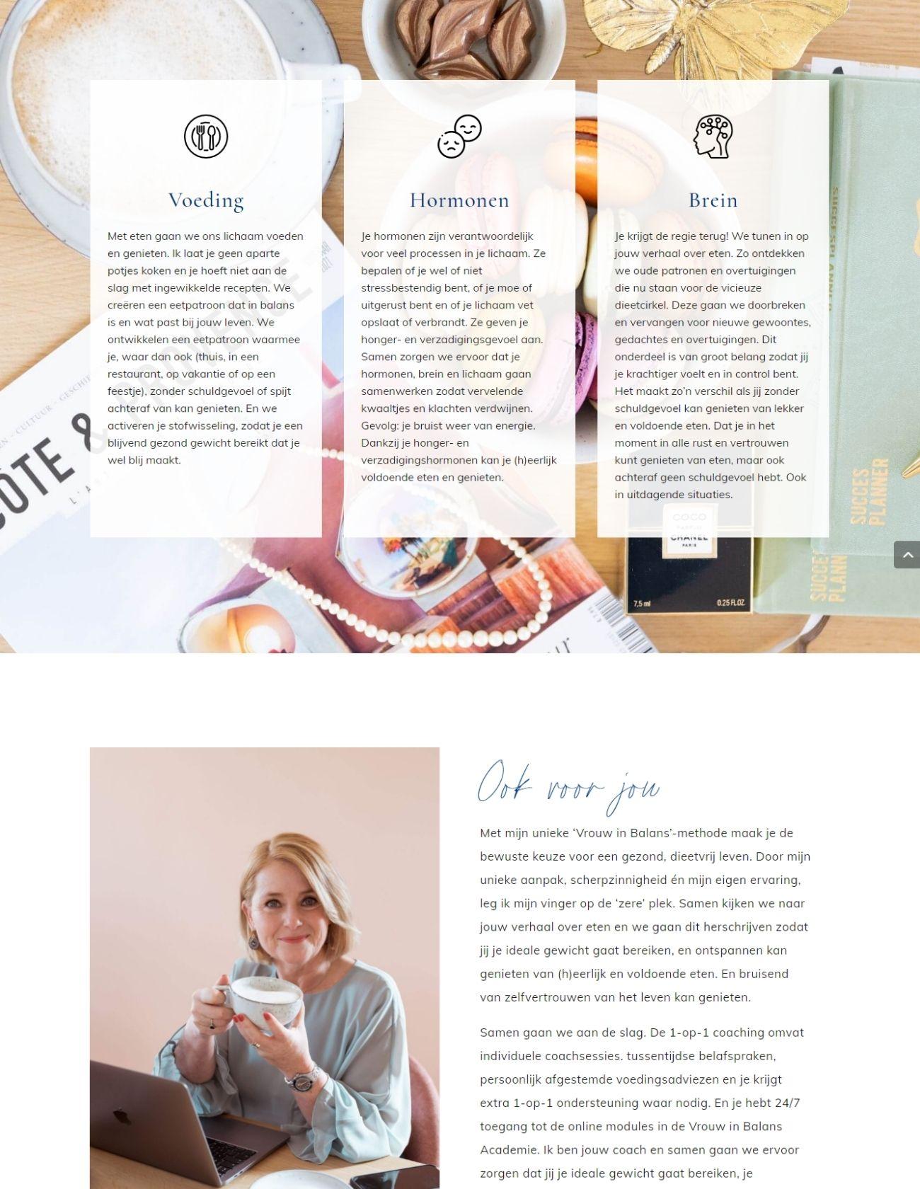 Impressie Claudia Vesters Paula Terpstra Webdesign Vrouw in Balans Coaching