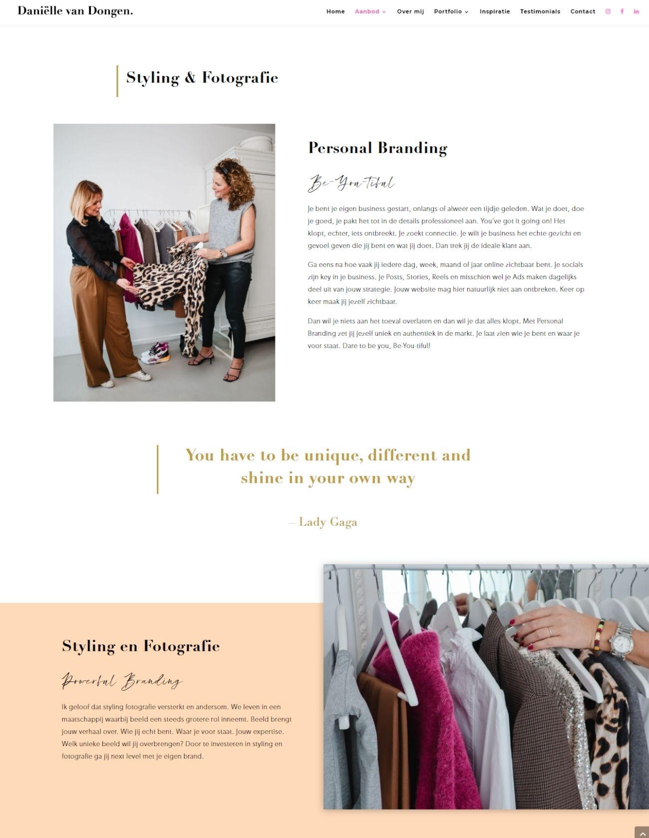 Impressie Danielle van Dongen Paula Terpstra Webdesign page 2