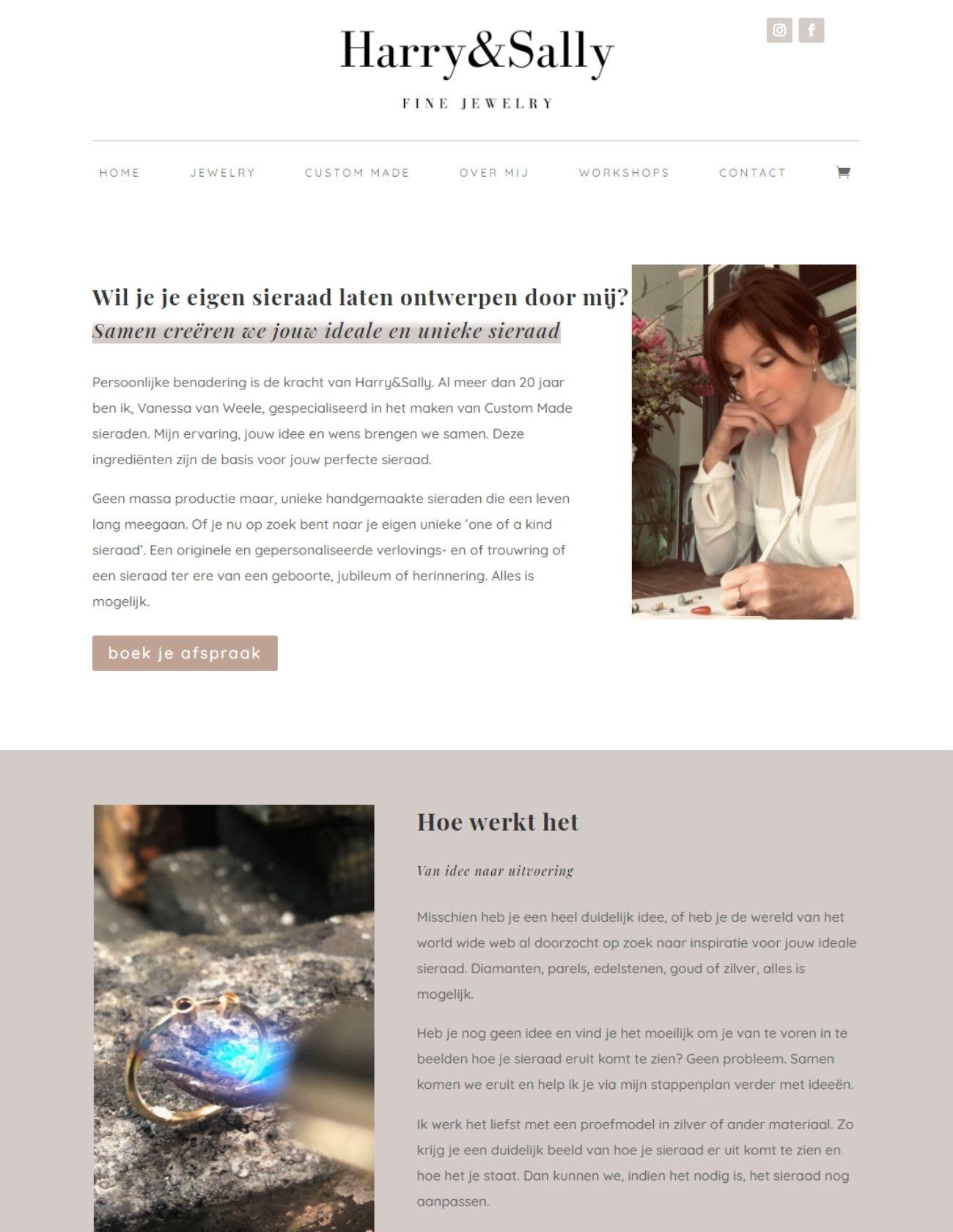 Impressie Harry Sally Jewelry Paula Terpstra Webdesign Custom Made