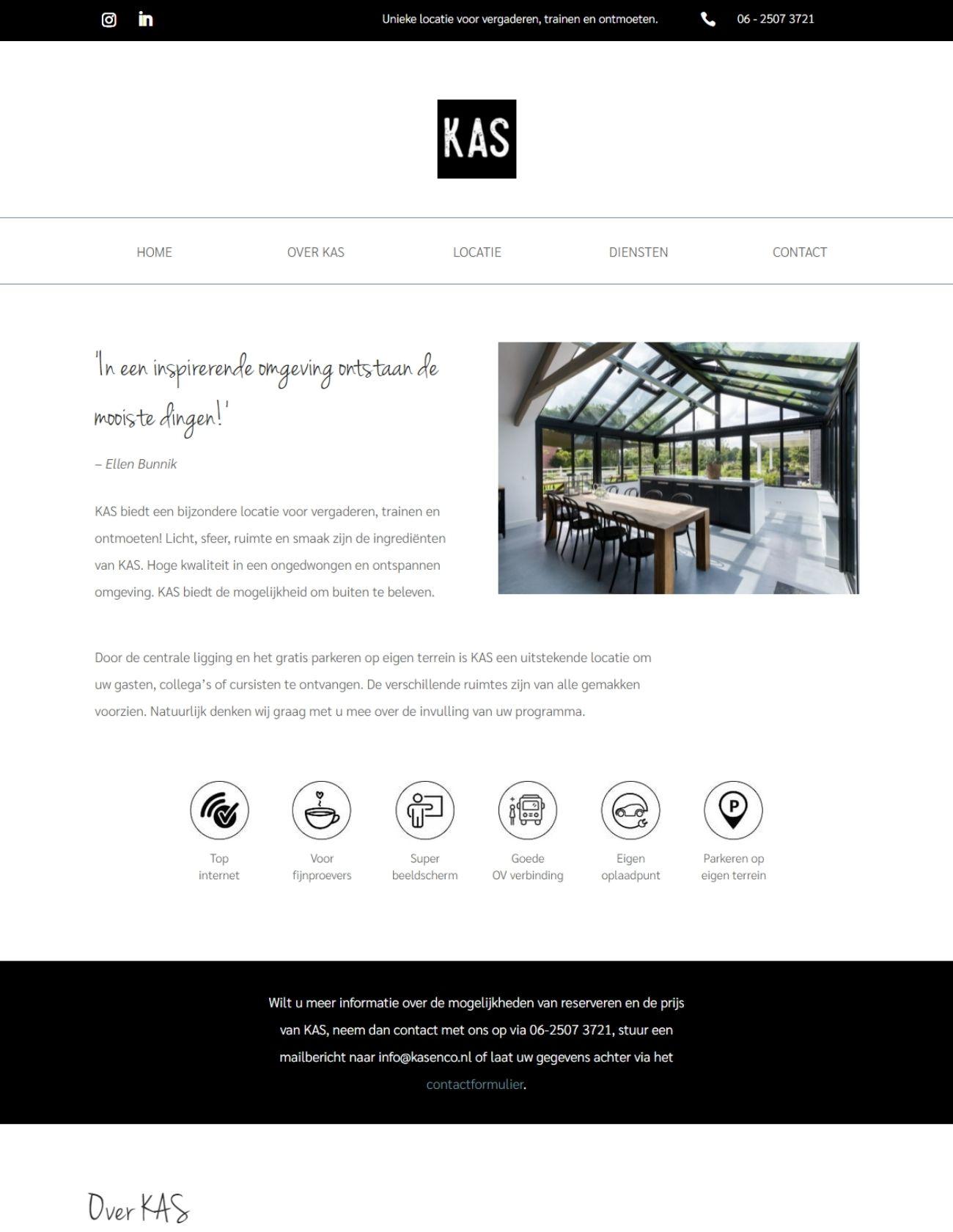 Impressie KAS en co Paula Terpstra Webdesign homepage