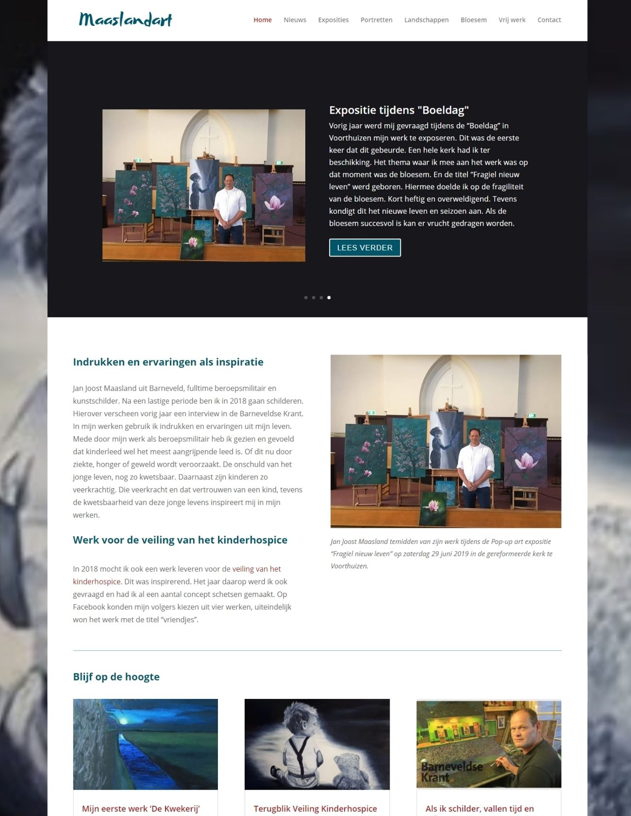 Impressie Maaslandart Paula Terpstra Webdesign Homepage (1)