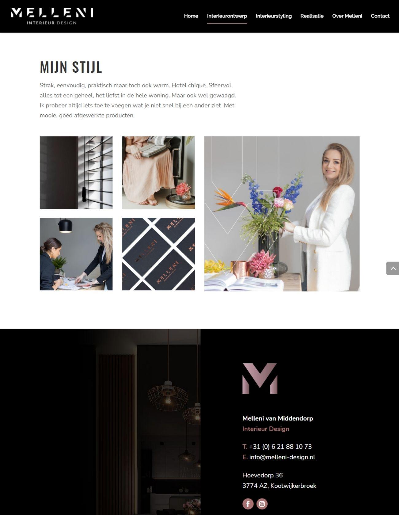 Impressie Melleni Design Paula Terpstra Webdesign Interieurontwerp