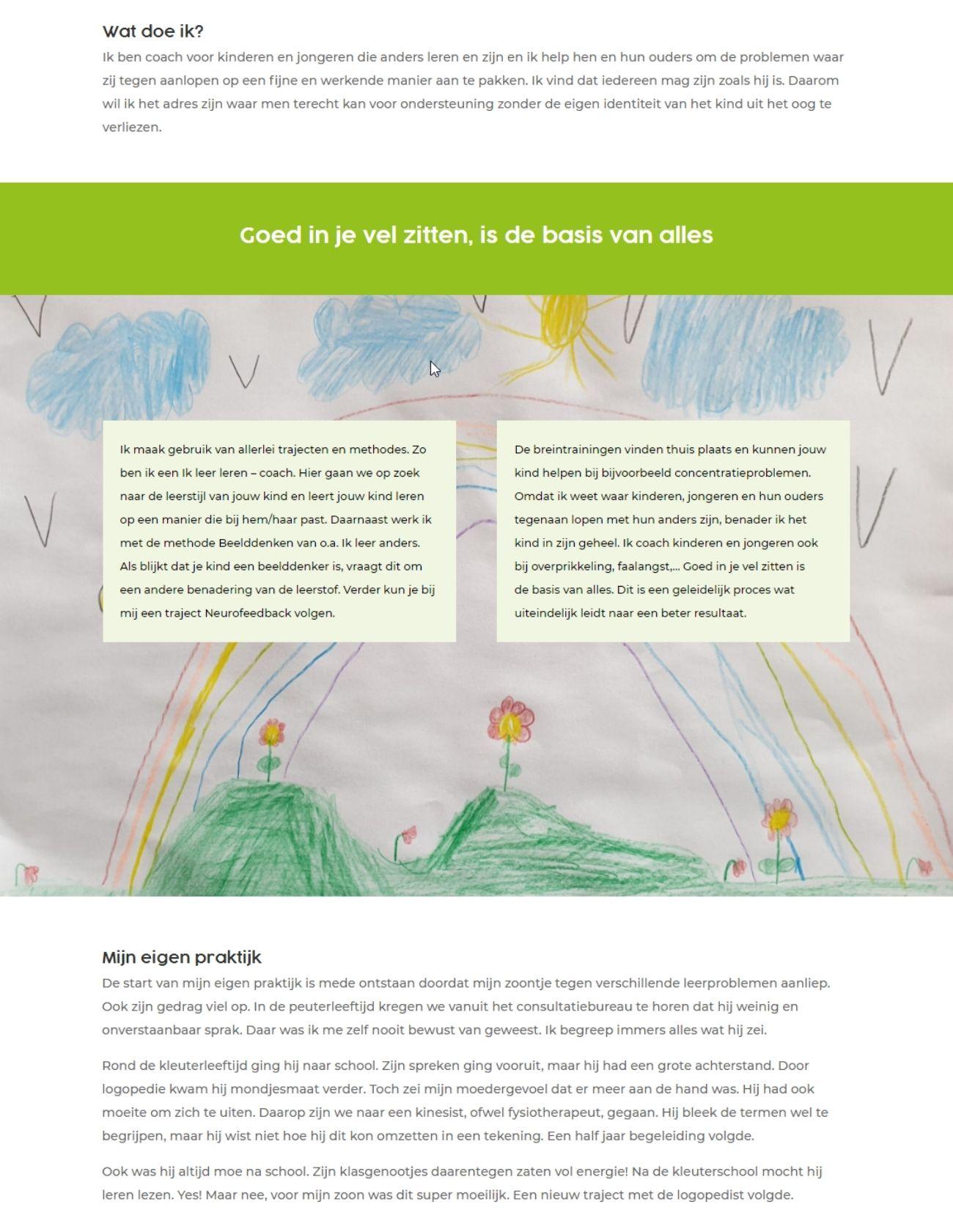 Impressie Praktijk Bij de Hand Paula Terpstra Webdesign Over Mij