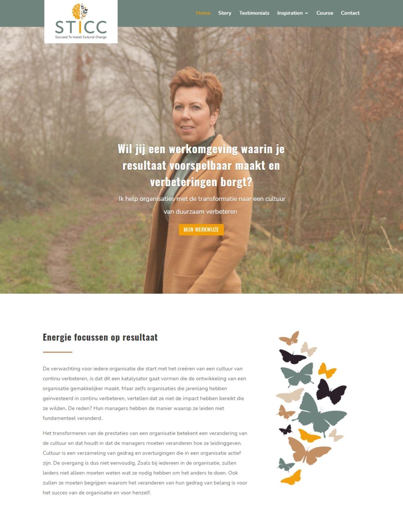 Impressie STICC Paula Terpstra Webdesign Homepage