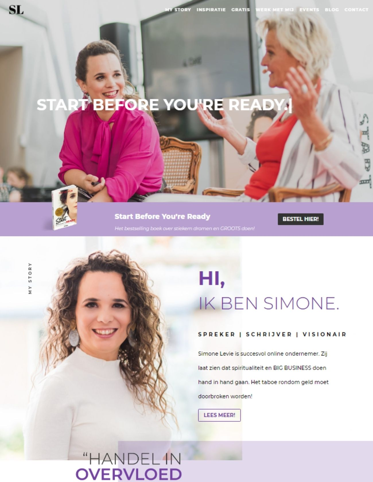Impressie Simone Levie Paula Terpstra Webdesign