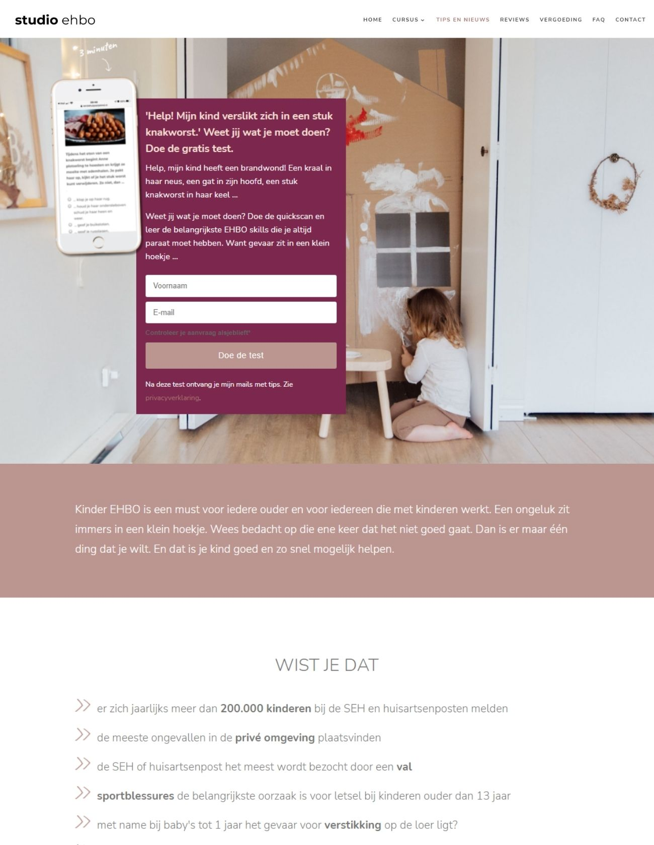 Impressie Studio EHBO Paula Terpstra Webdesign Homepage (1)