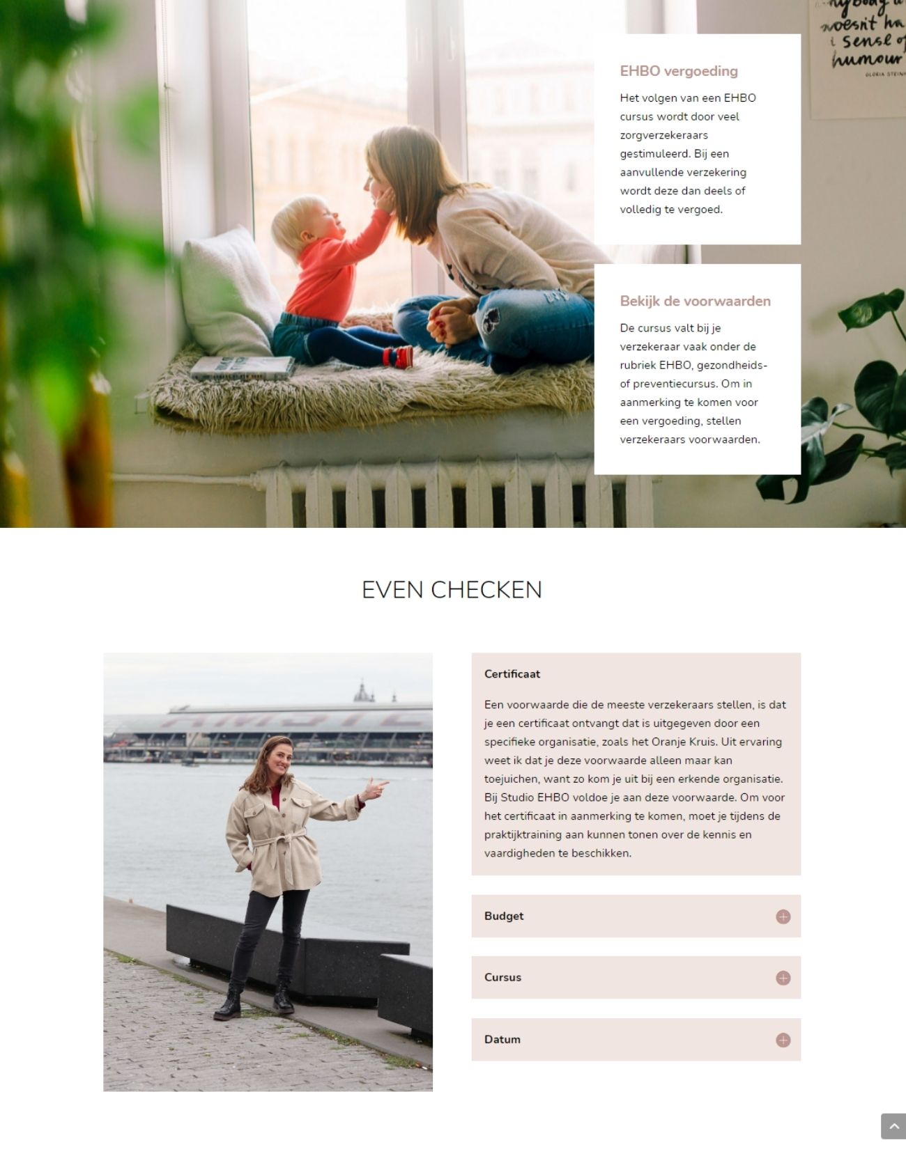 Impressie Studio EHBO Paula Terpstra Webdesign Vergoeding