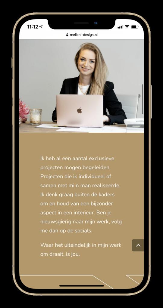 Melleni Interieur Design Portfolio Paula Terpstra Webdesign Mobile 1