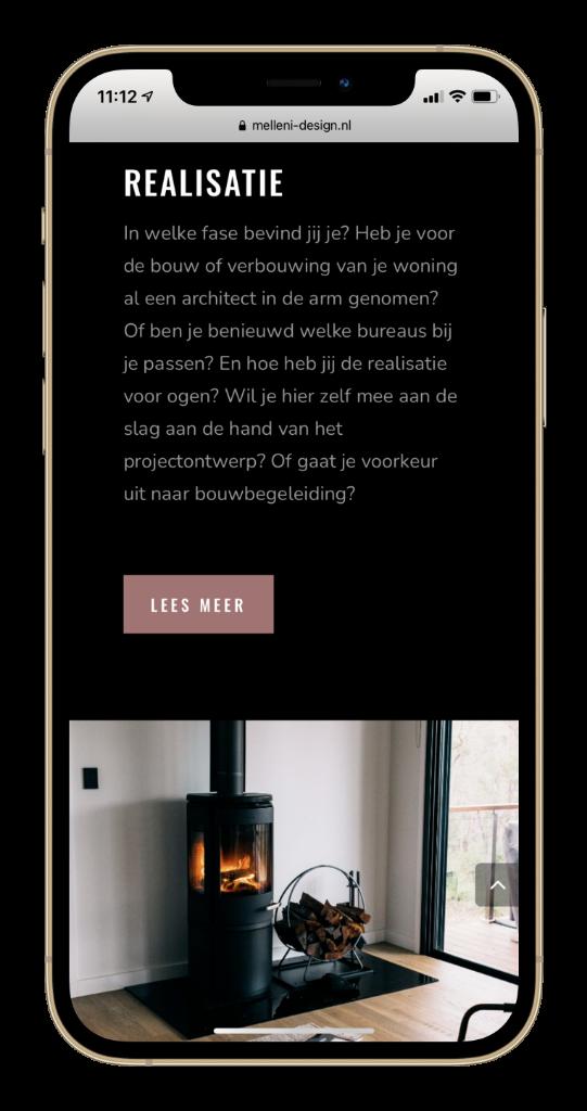 Melleni Interieur Design Portfolio Paula Terpstra Webdesign Mobile 2