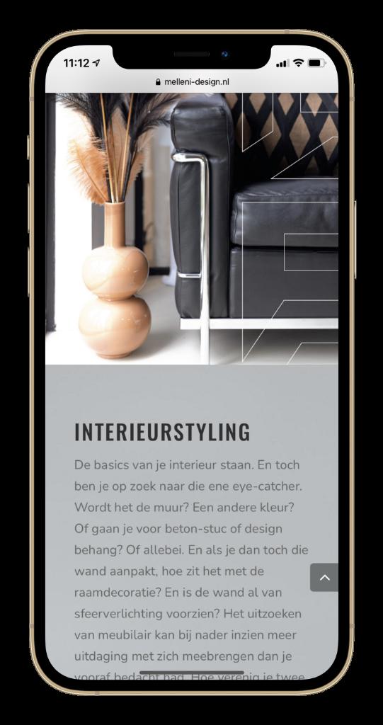 Melleni Interieur Design Portfolio Paula Terpstra Webdesign Mobile 3