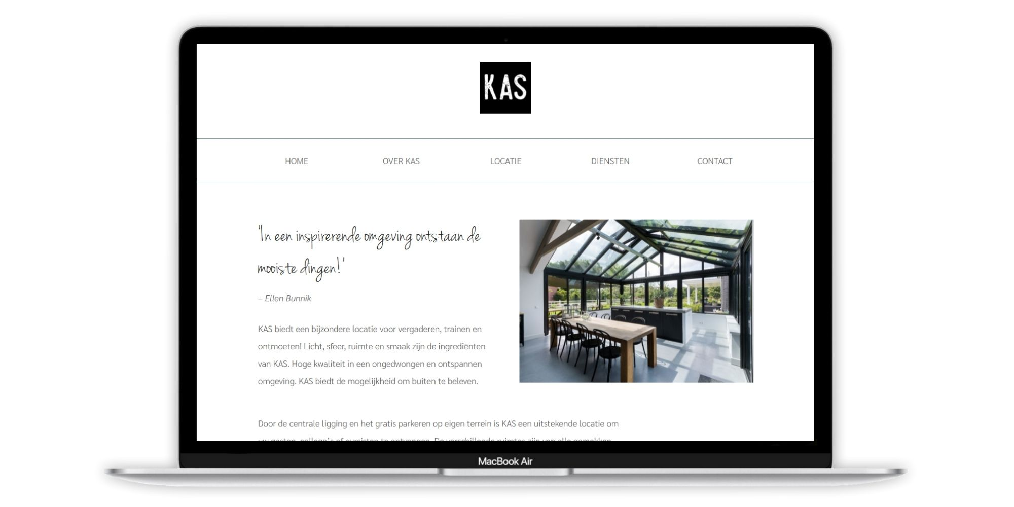 Portfolio project KAS Ontmoetingslocatie Paula Terpstra Webdesign project afbeelding