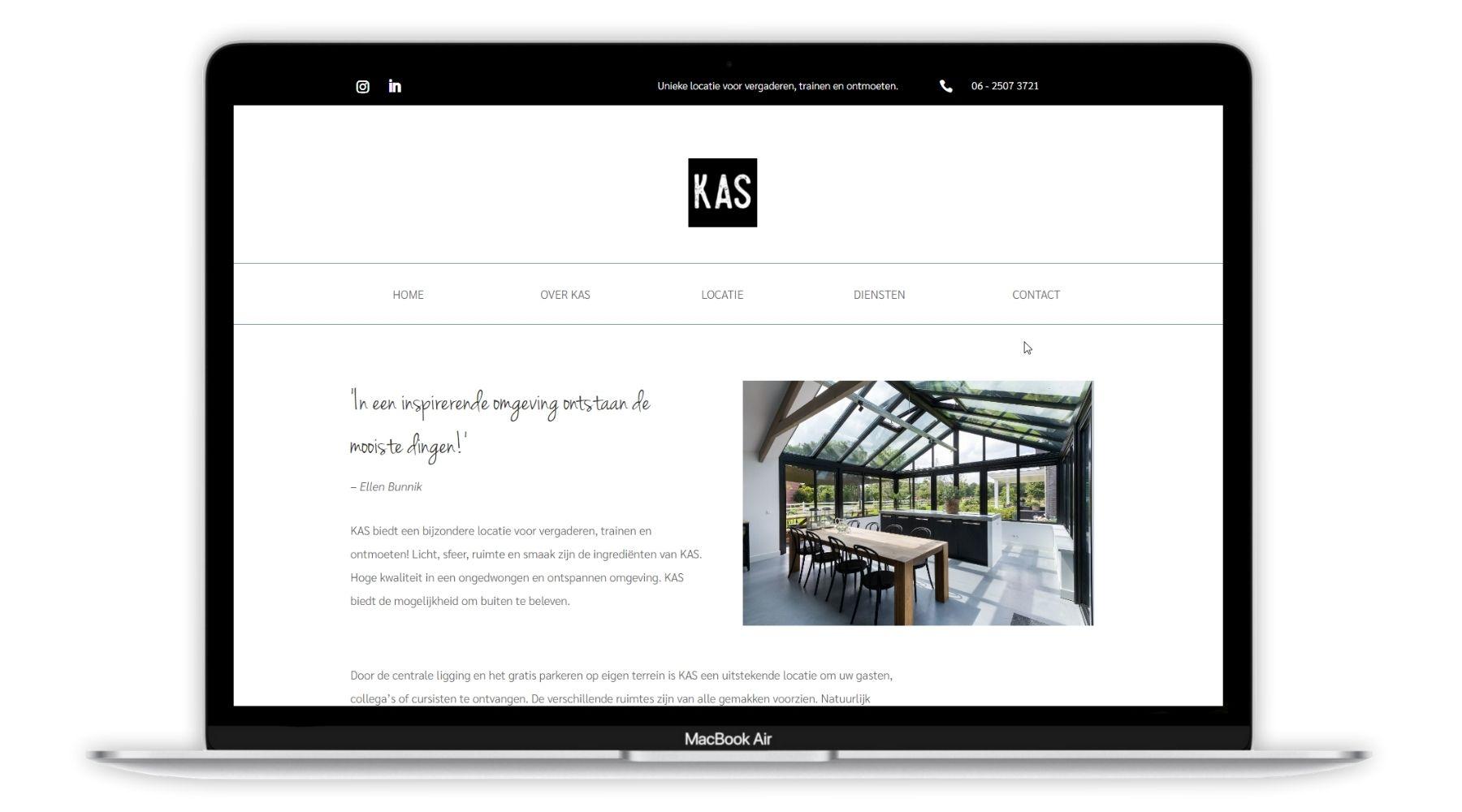 Portfolio project KAS Paula Terpstra Webdesign groot
