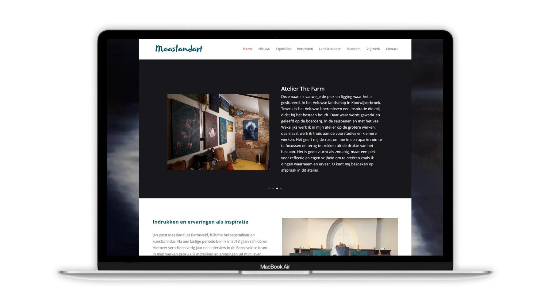 Portfolio project Maaslandart Paula Terpstra Webdesign 1800x1000