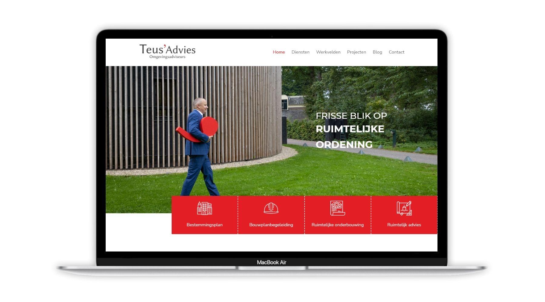 Portfolio project Teus' Advies Paula Terpstra Webdesign 1800x1000