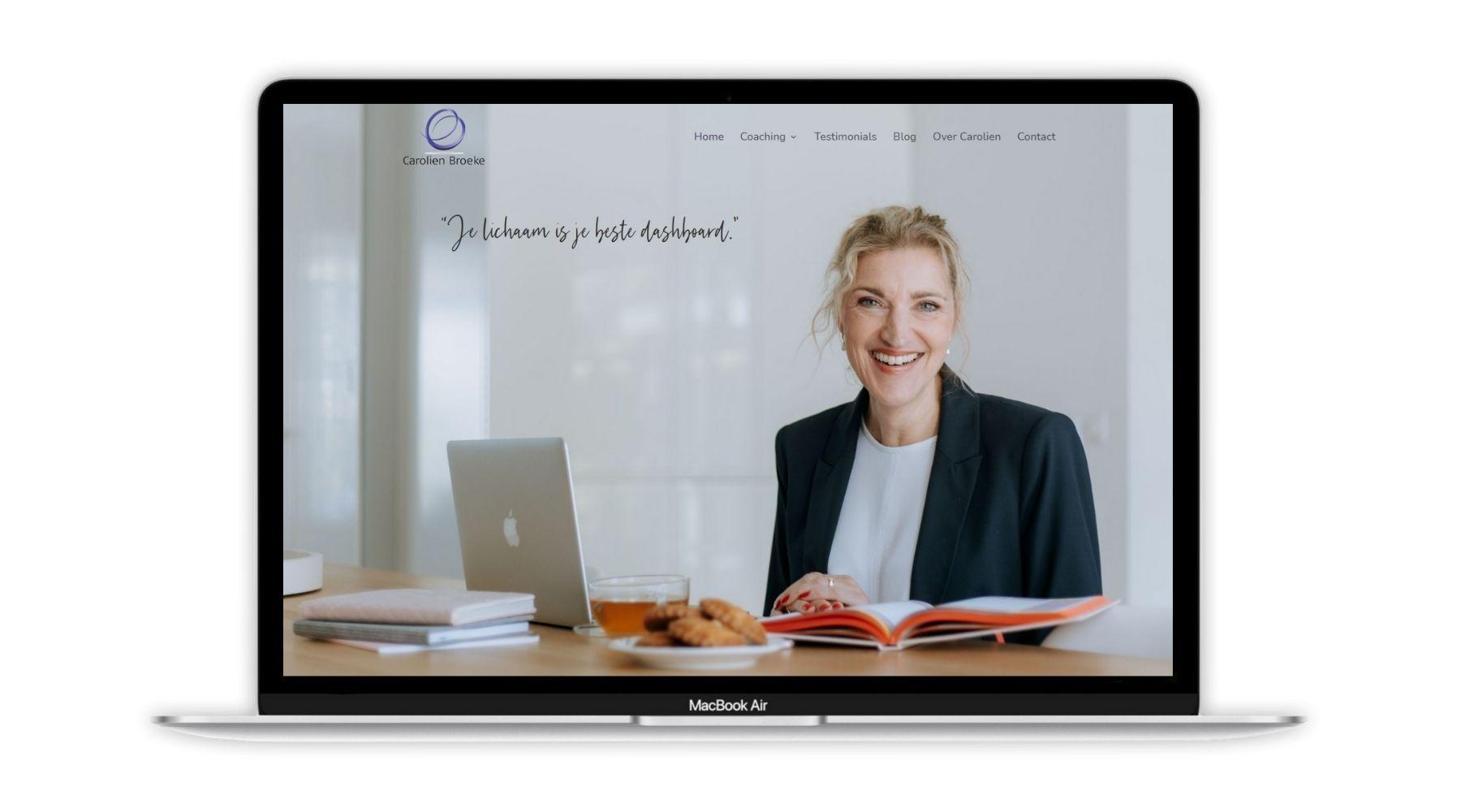 Portfolio Website Carolien Broeke Paula Terpstra Webdesign 1800x1000